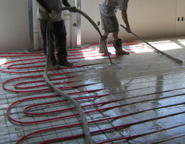 Radiant Heat Over-Pours